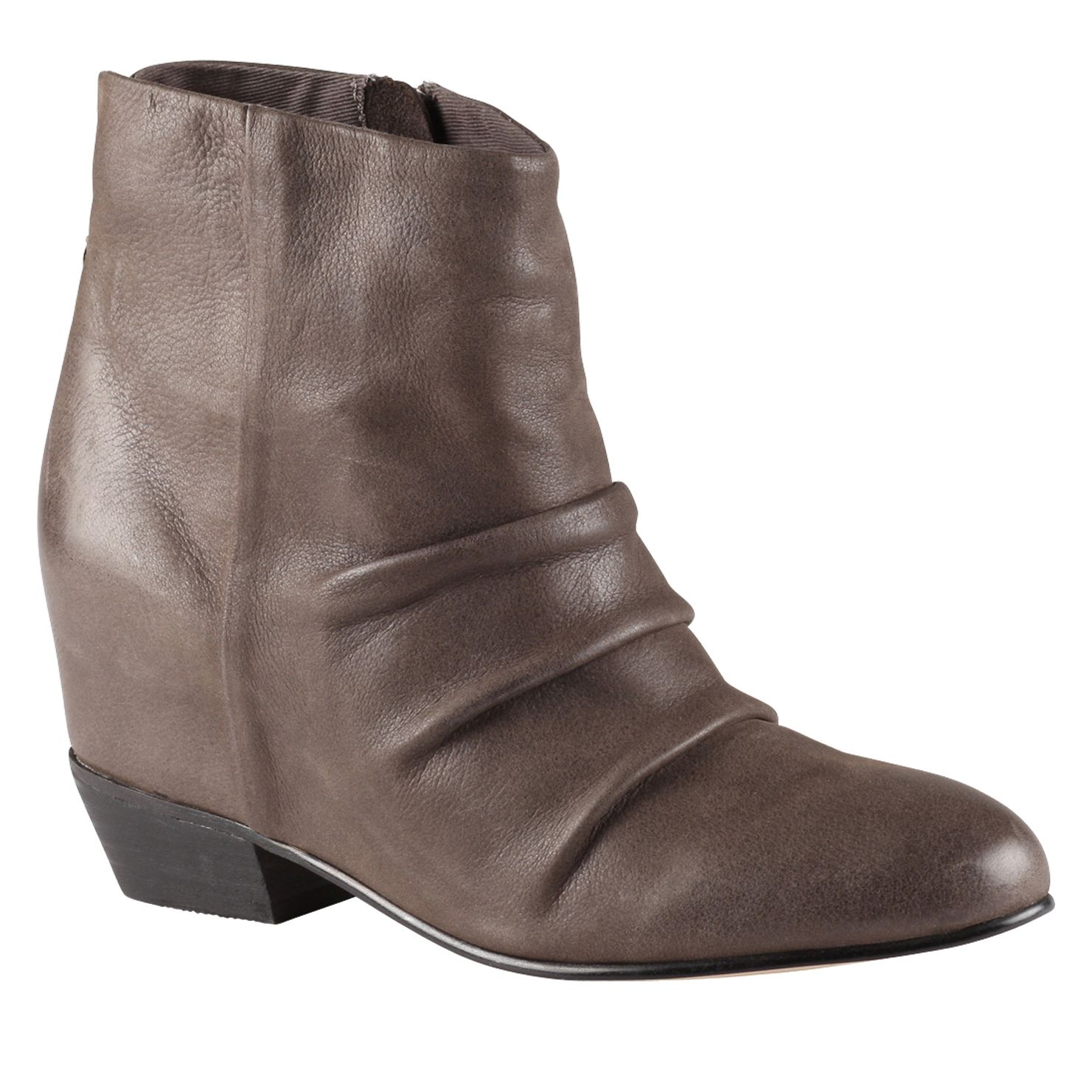 Azola almond toe wedge boots