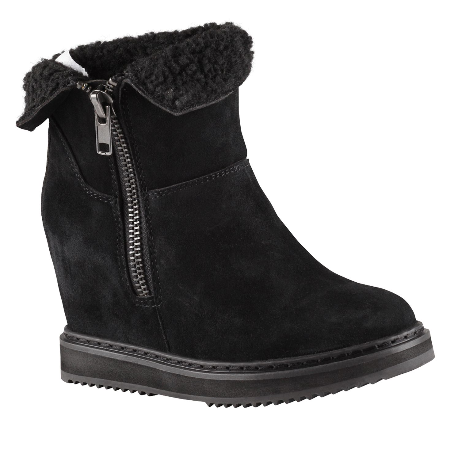 Lenice round toe wedge boots