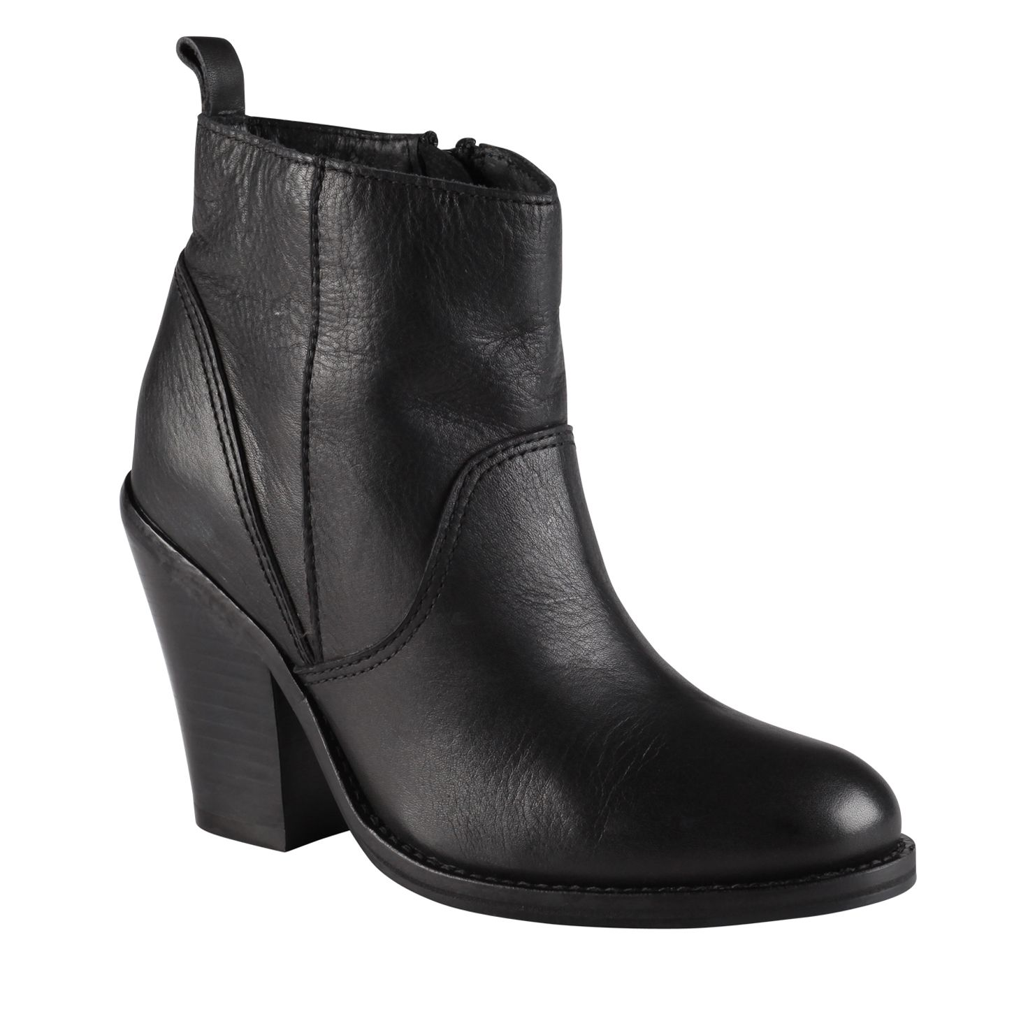 Giambrone almond toe block heel boots
