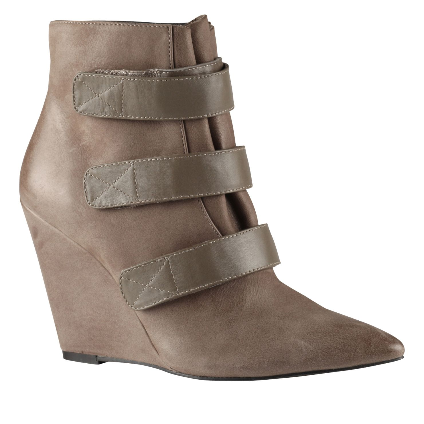 Jacelyn pointed toe wedge boots