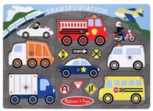 Melissa & Doug Transportation Peg Puzzle