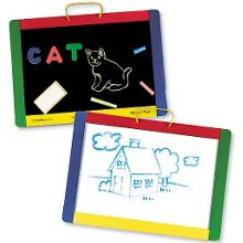 Magnetic 2in1 chalk and dry-erase board