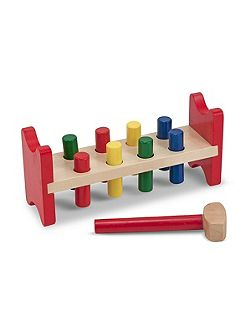 Wooden Pound A Peg Set