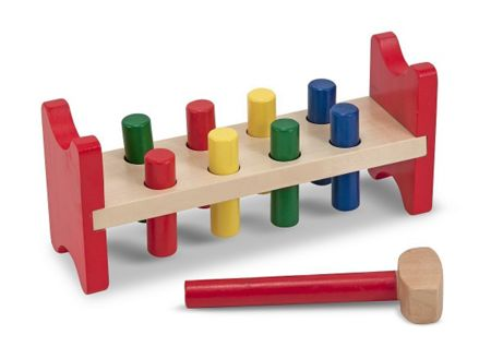 Melissa & Doug Wooden Pound A Peg Set
