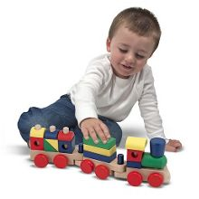 Melissa & Doug Wood stacking train