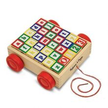 Melissa & Doug Classic ABC Building Block Cart