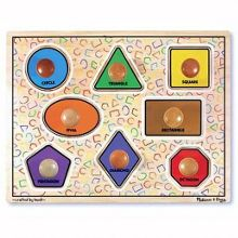 Melissa & Doug Large Wooden Shapes Peg Puzzle
