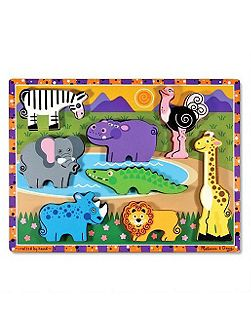 Melissa & doug chunky jungle puzzle