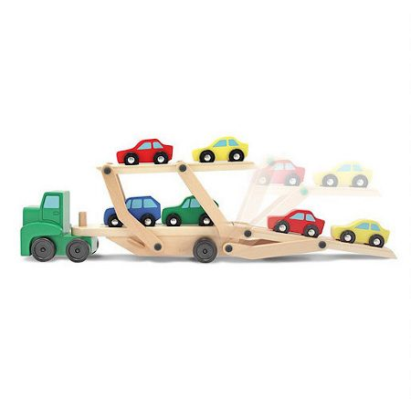Melissa & Doug Wooden Car Transporter