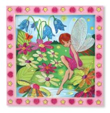Sticker by number flower garden fairy