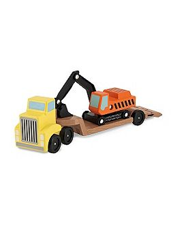 Wooden digger & low loader