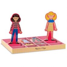 Abby and Emma Magnetic Dress-Up Dolls
