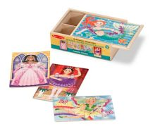 Melissa & Doug Fanciful Friends 4 Wooden Puzzles