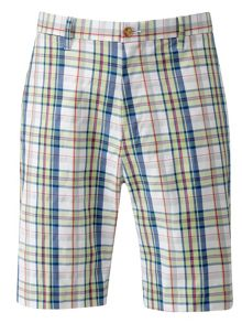 Bobby Jones Plaid flat front short