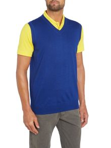 Bobby Jones Solid merino v neck vest