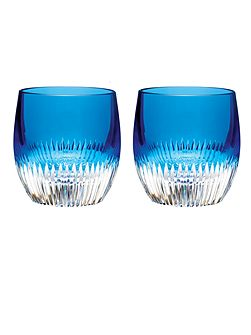 Mixology argon blue tumbler glasses set of 2