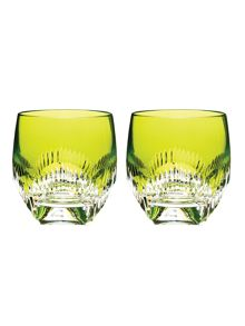 Waterford Mixology neon lime tumbler glasses, set of 2