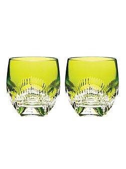 Mixology neon lime tumbler glasses, set of 2