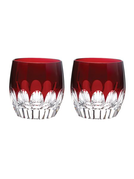 Waterford Mixology talon red glasses, box of 2