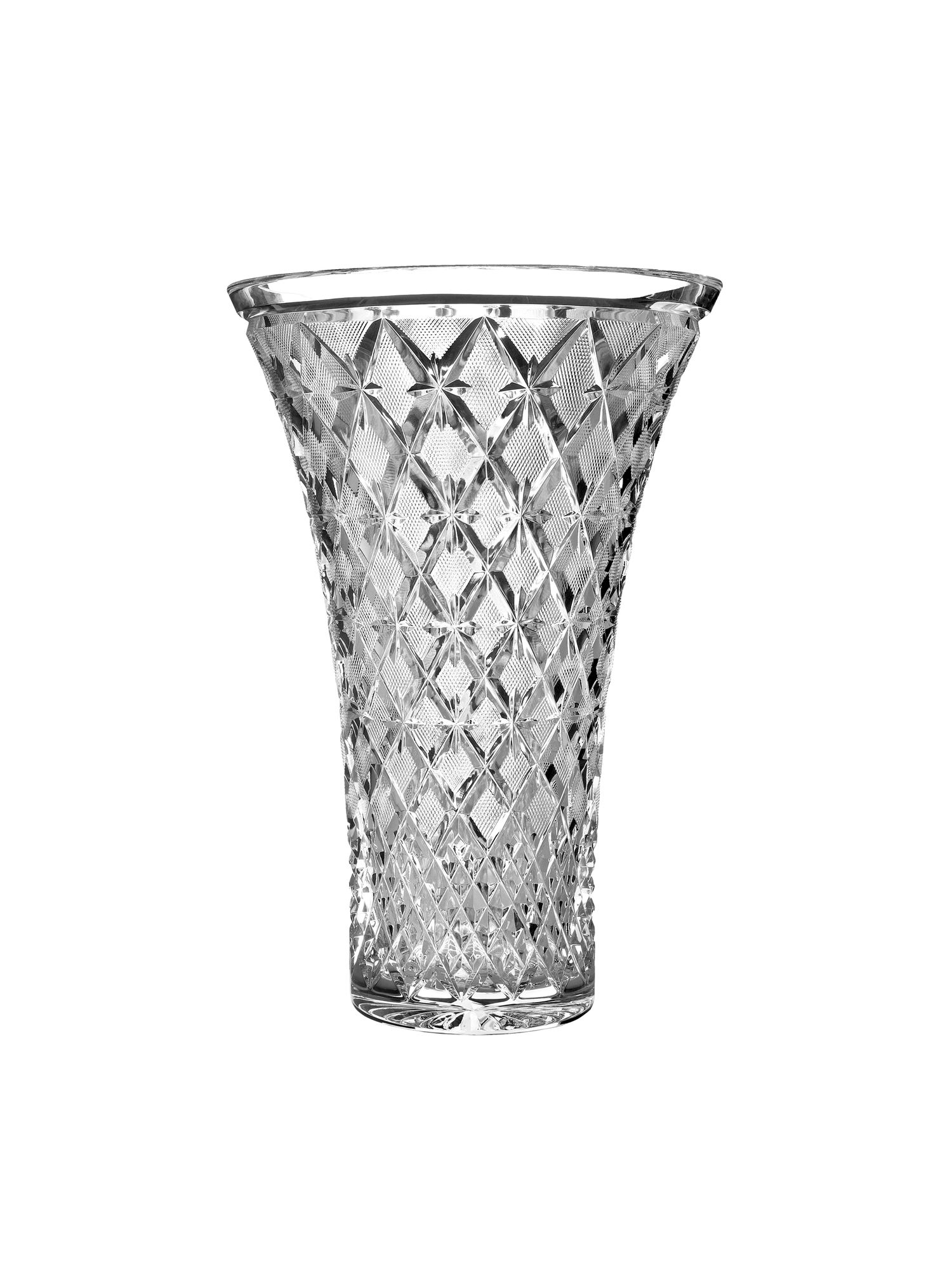 Crystal lace John Connolly 14 inch vase