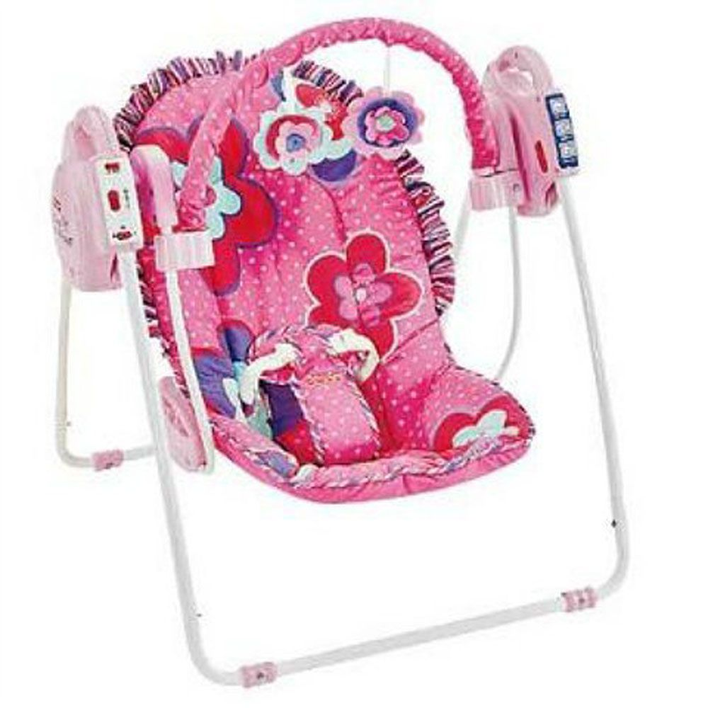 Fisher Price Pink Petals Take-Along Swing R2481