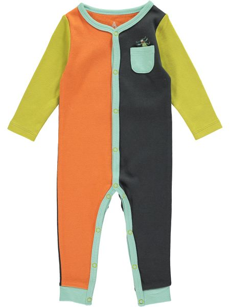 Rockin' Baby Boys Bug Colour Block Footless All-in-One