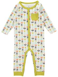 Rockin' Baby Boys Bug Print Footless All-in-One