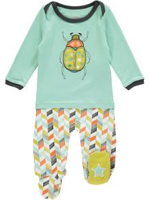 Rockin' Baby Boys Bug Applique Onesie