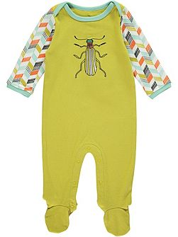 Boys Green Bug Onesie