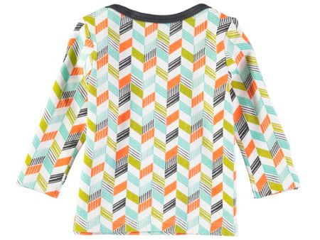 Rockin' Baby Boys Long Sleeve Grey Chevron Print T-Shirt