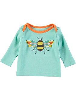 Boys Long Sleeve Blue Bee T-Shirt