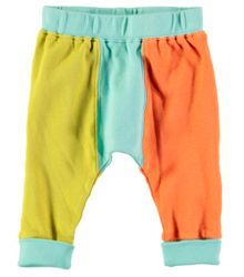 Rockin' Baby Boys Green Colour Block Leggings