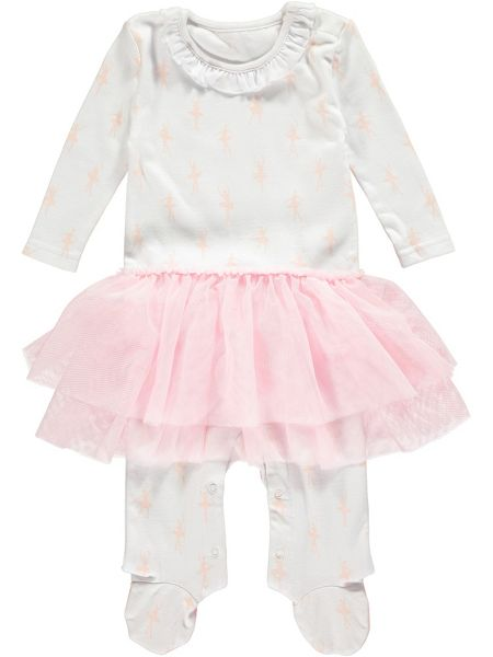 Rockin' Baby Girls Ballerina Skirt Cotton Onesie