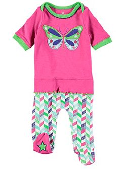 Girls Butterfly Frill Onesie