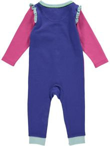 Rockin' Baby Girls Pink Colour Block Footless All-in-one