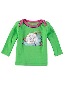 Girls Long Sleeve Snail T-Shirt