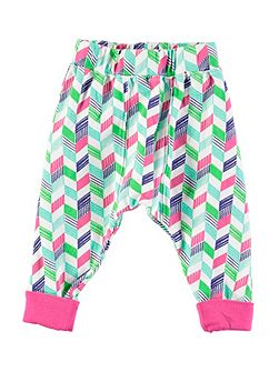 Girls Chevron Print Leggings