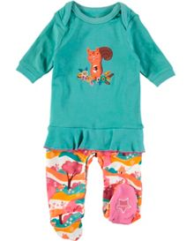 Rockin' Baby Girls Squirrel Frill Onesie