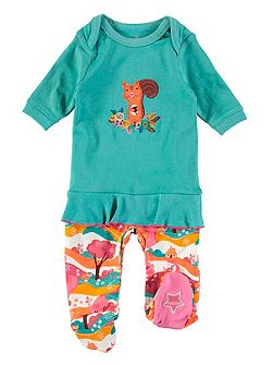 Girls Squirrel Frill Onesie