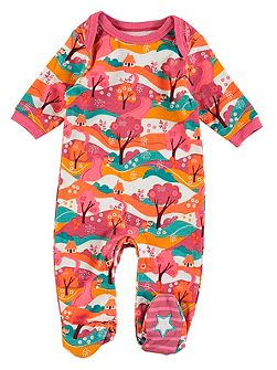 Girls Woodland Print Onesie