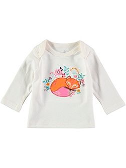 Girls Fox Applique T-Shirt