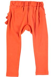 Rockin' Baby Girls Orange Frill Bottom Leggings
