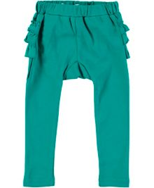 Rockin' Baby Girls Turquoise Frill Bottom Leggings