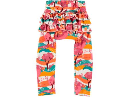 Rockin' Baby Girls Woodland Print Frill Leggings