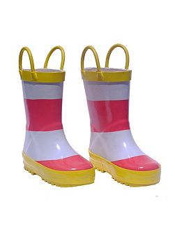 Pink Stripe Wellies