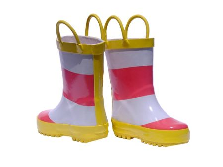 Rockin' Baby Pink Stripe Wellies