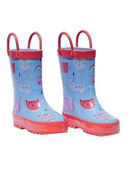 Cat Print Wellies