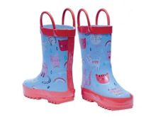 Rockin' Baby Cat Print Wellies