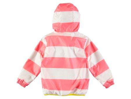 Rockin' Baby Girls Pink Stripe Rain Mac Coat