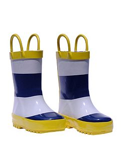 Blue Stripe Wellies